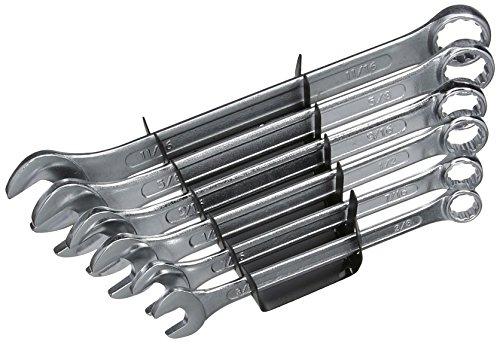 Silverline SP20 Ring-Maulschlüssel, 6-tlg. Satz 3/8–11/16 Zoll AF (Prime)