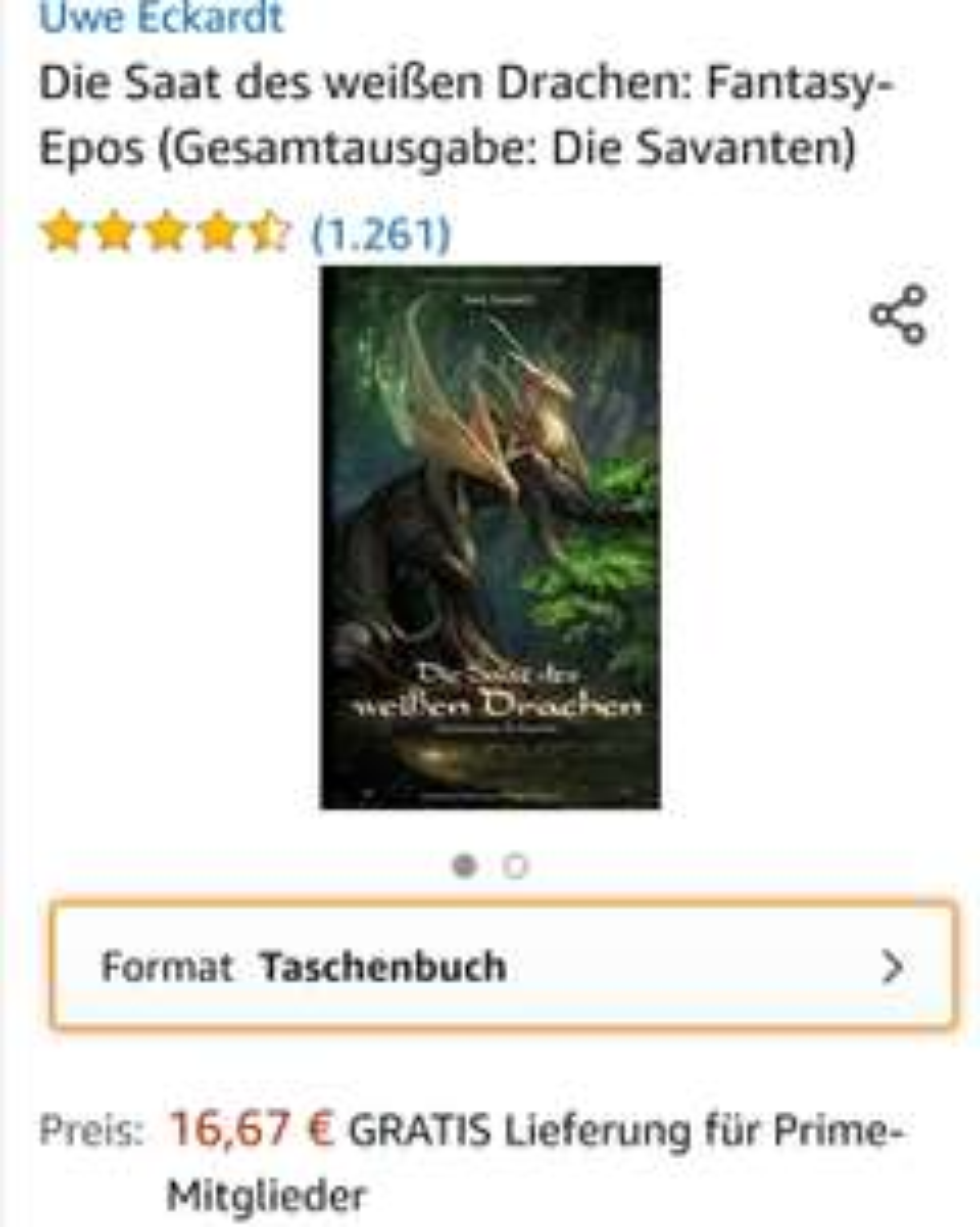 [Ebook Amazon] Die Saat des weißen Drachen