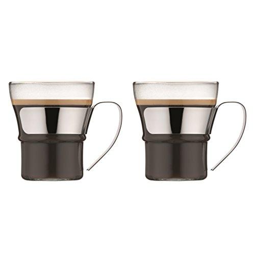 Bodum Assam 2-teiliges Kaffeeglas-Set (Spülmaschinengeeignet,Metallgriff, 300 ml) Glänzend für 12,99€ & 0,37 Liter für 14,99€ (Amazon Prime)
