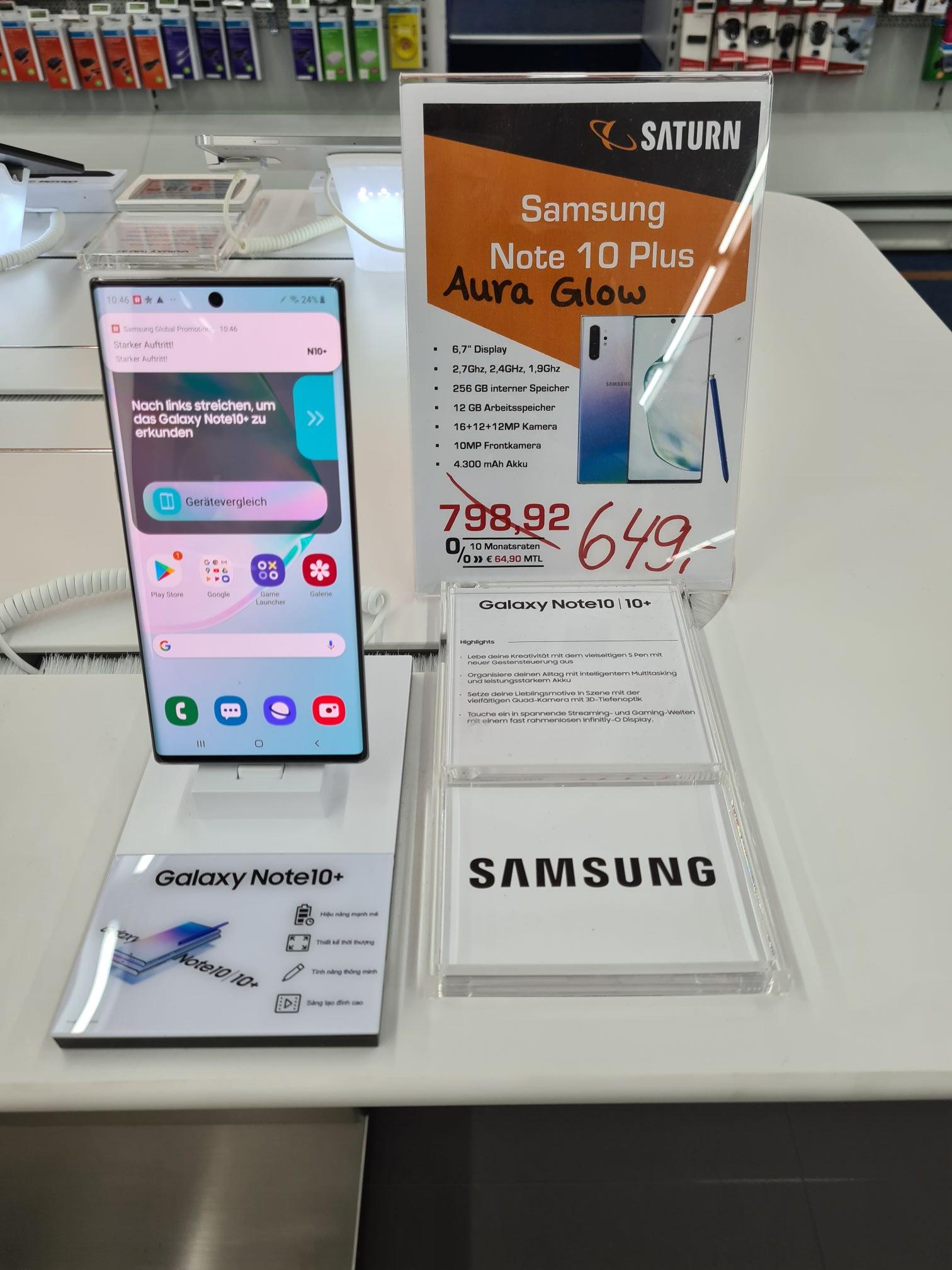 LOKAL - Samsung Galaxy Note 10+ 256GB im Saturn Dortmund Eving