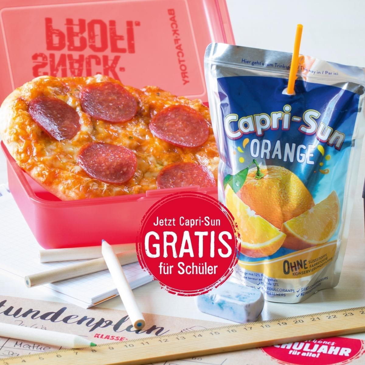 [Back-Factory] Für Schüler: Gratis Capri-Sun bei Kauf einer Pizza