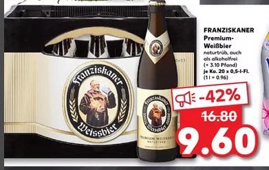 [Kaufland] Regional - Franziskaner 20x0.5L Kasten und weitere Biere
