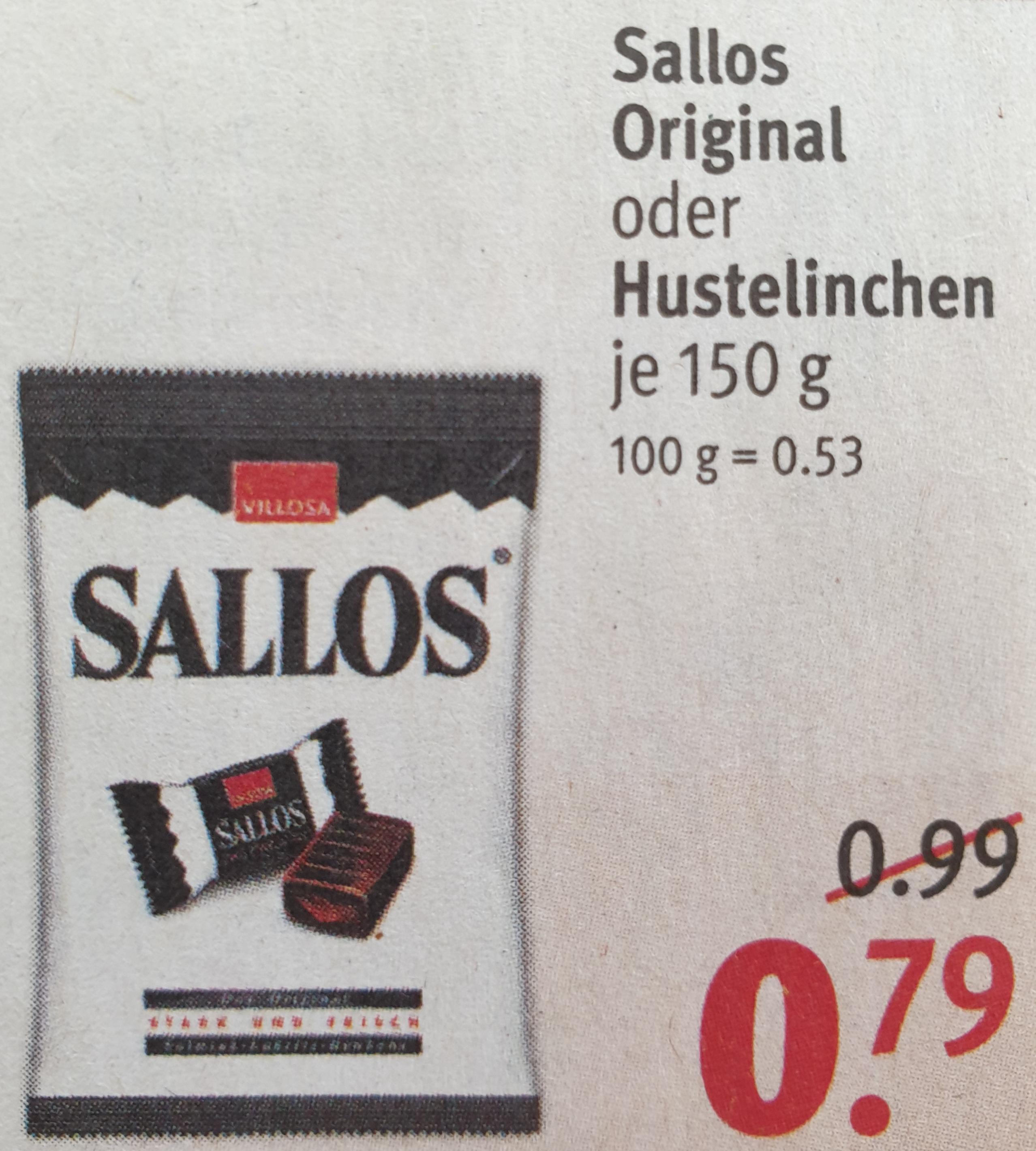 [ Rossmann ] Sallos Original 150g, mit 10% sogar für nur 0,72€