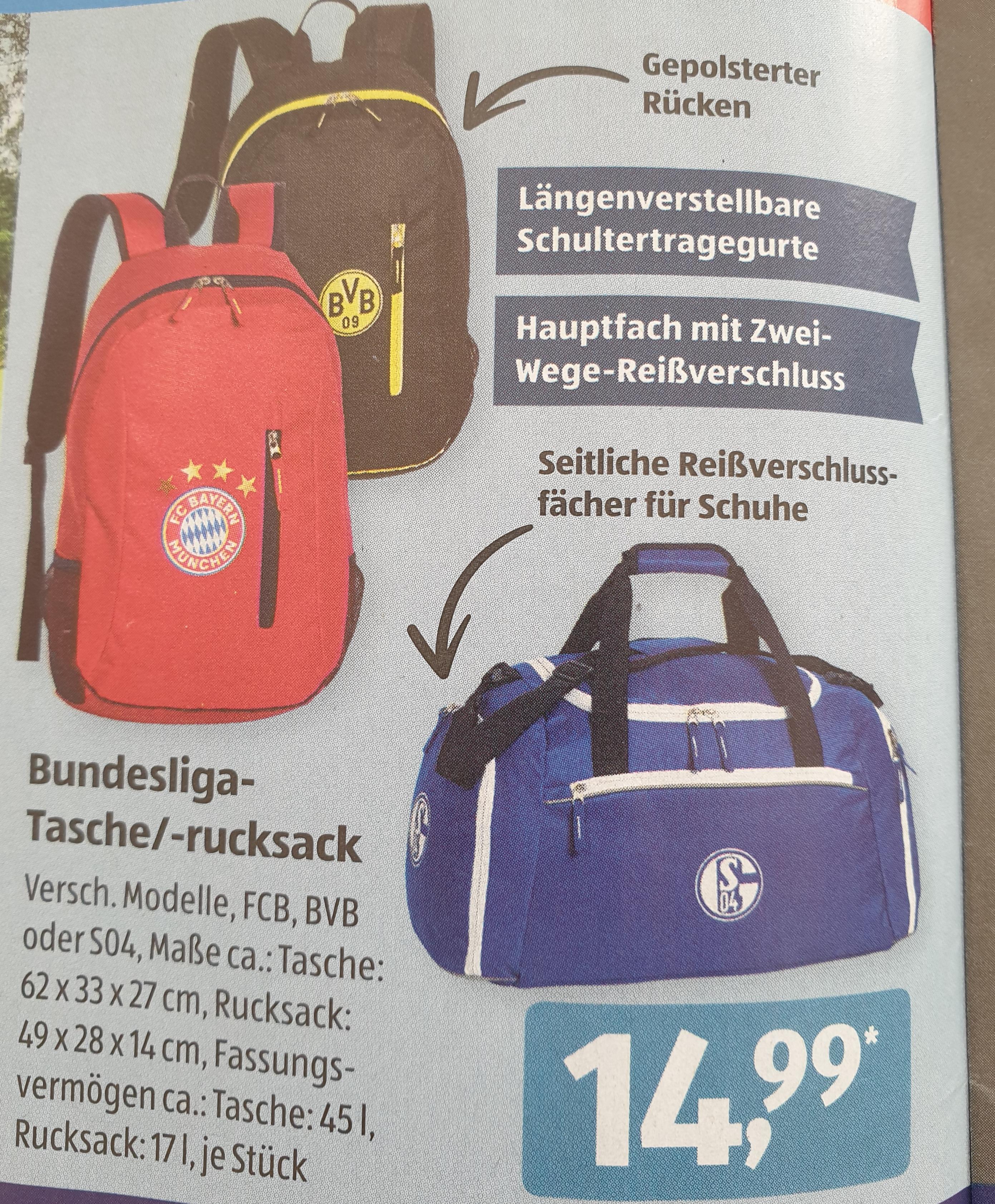 [ Aldi Süd ] Bundesliga Tasche / Rucksack verschiedene Modelle und Clubs