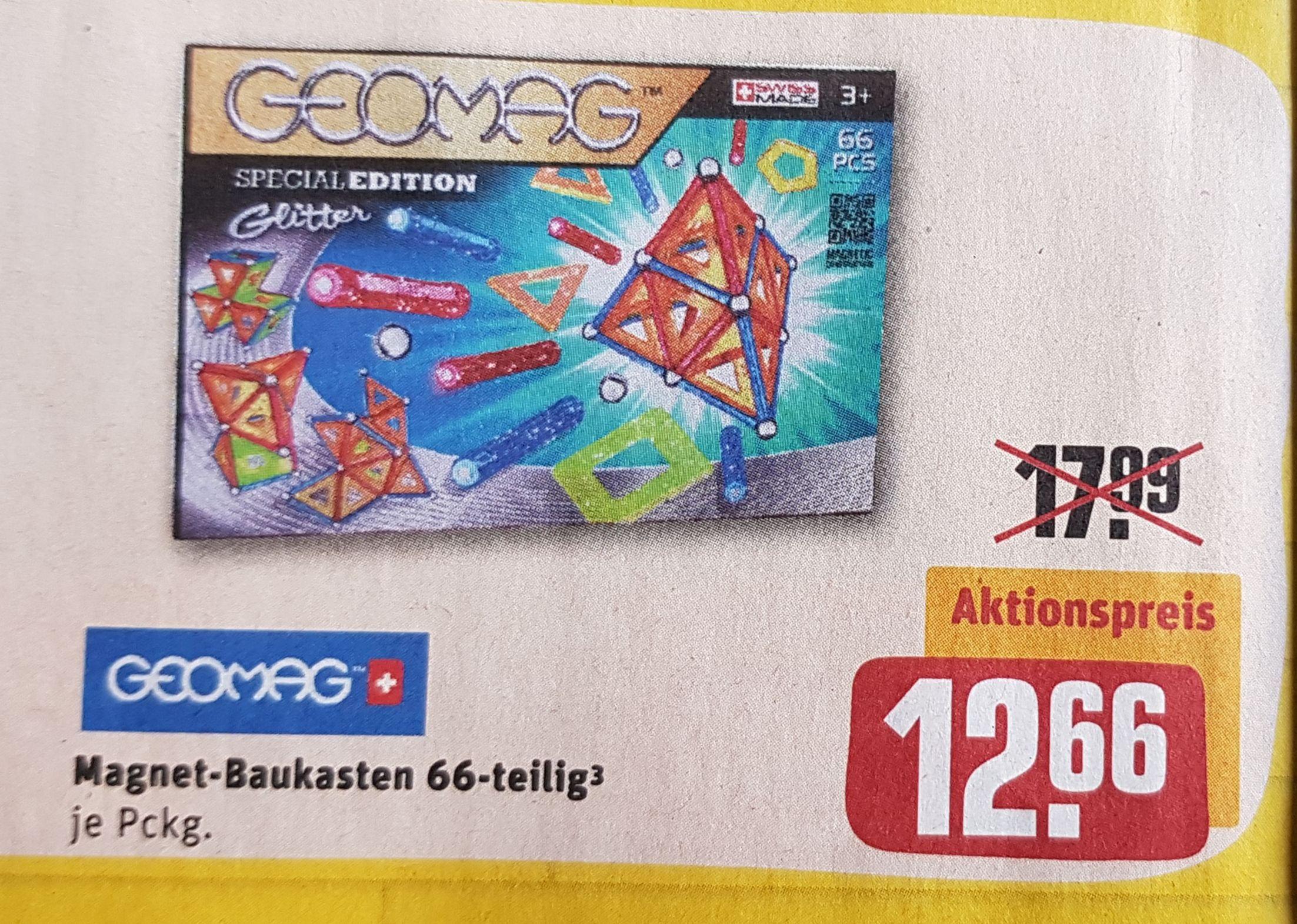 GEOMAG Special Edition Glitter, Magnet-Baukasten 66-teilig, rewe