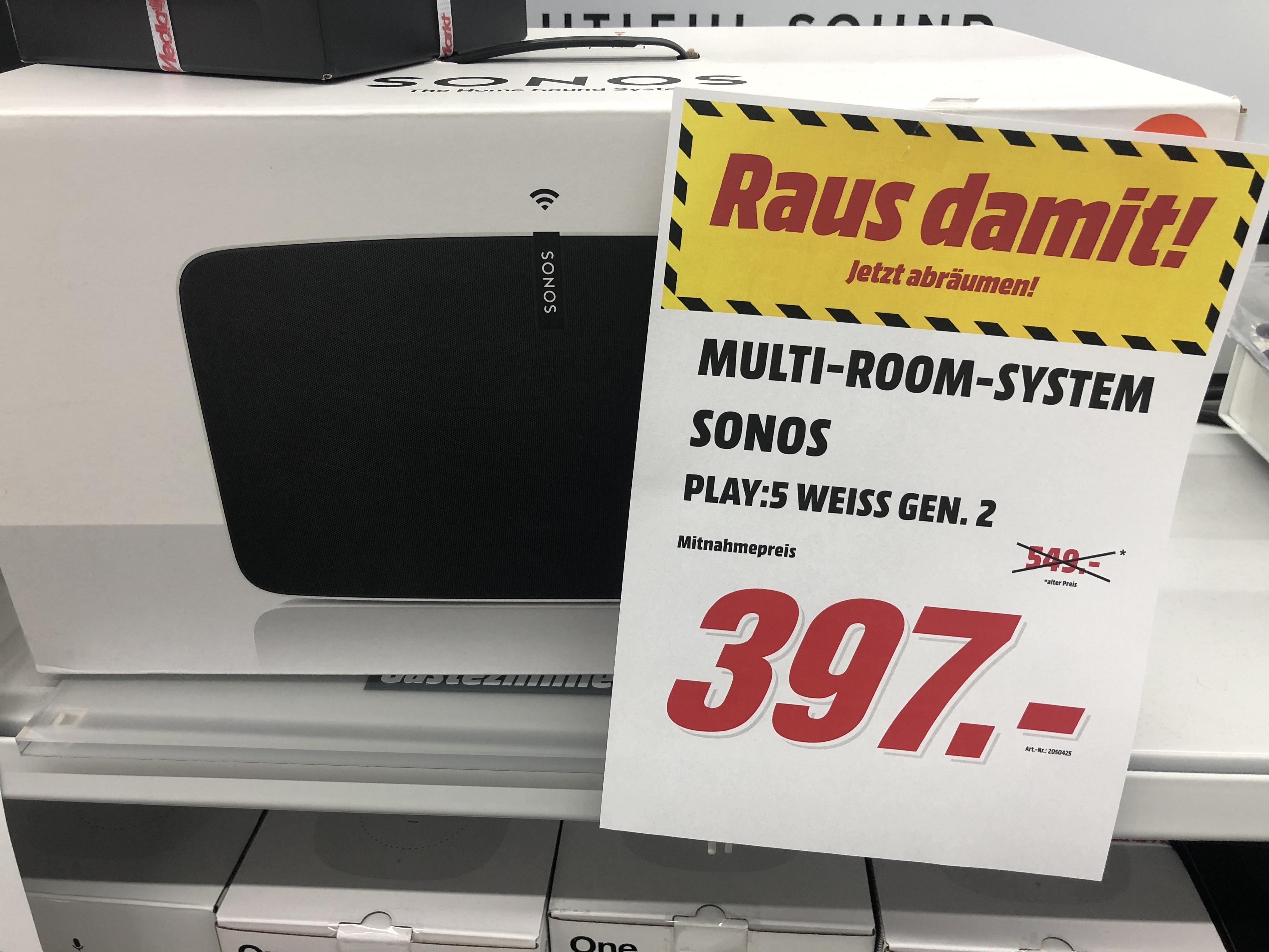 (Lokal MediaMarkt Nürnberg Mercado) Sonos Play:5 Gen. 2