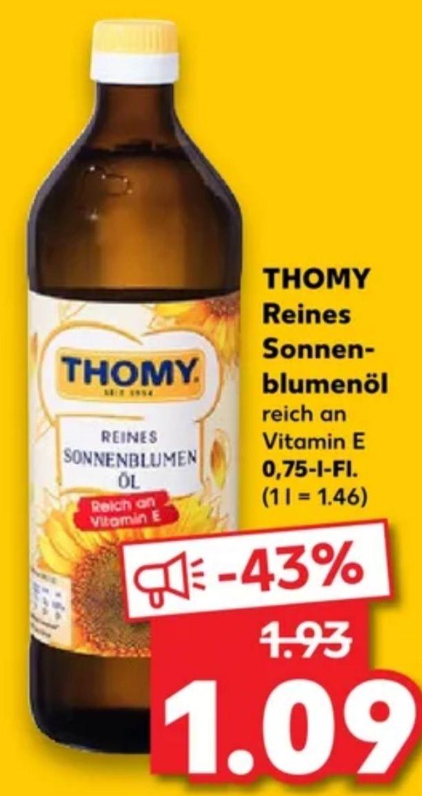 [Kaufland Fr+Sa] Thomy Sonnenblumenöl für 1,09€