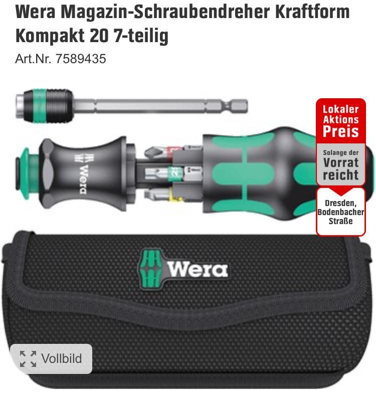 [lokal Obi Dresden Bodenbacher Straße] Wera Kraftform Kompakt 20 Toolfinder 1