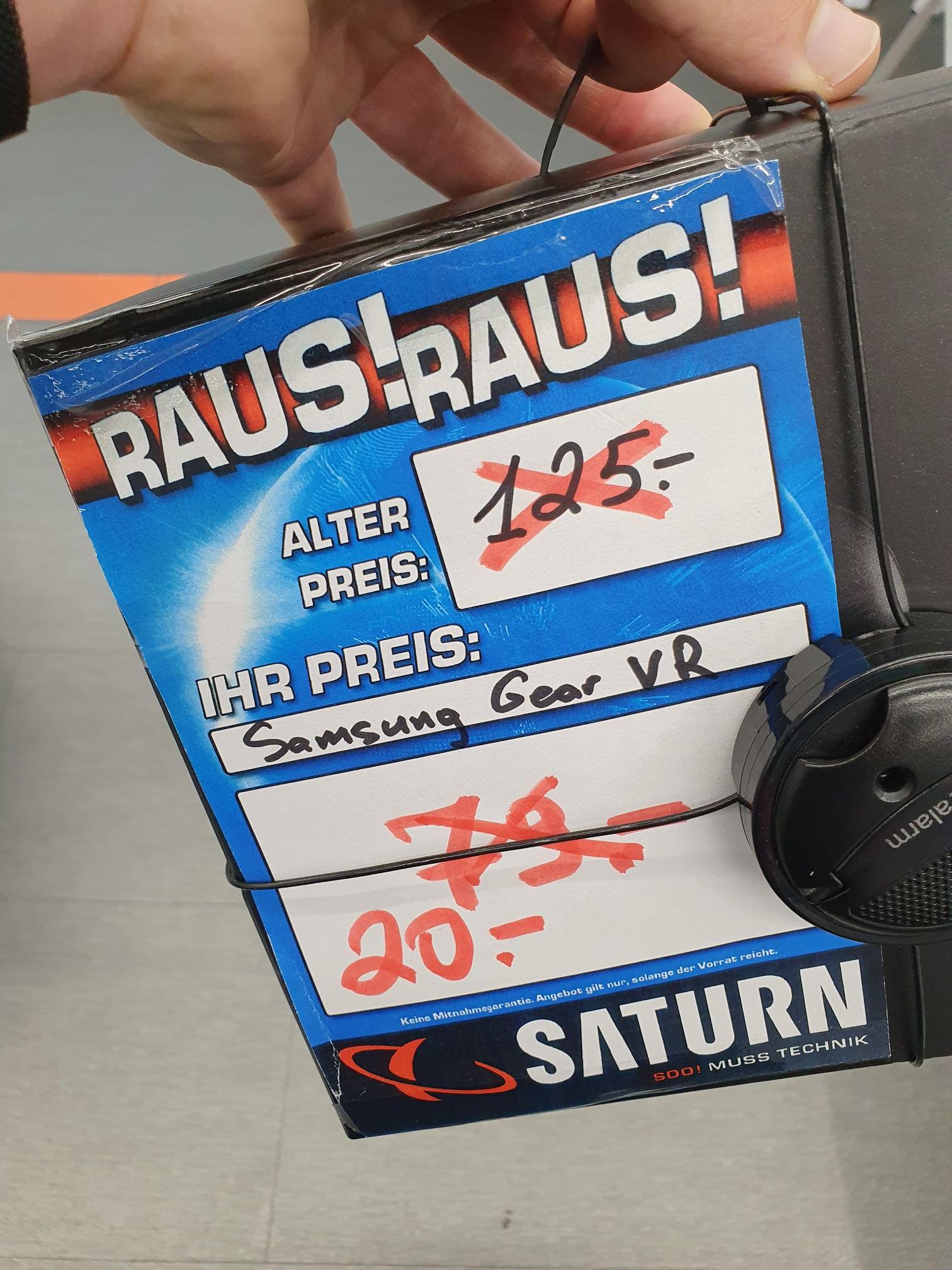 [Lokal] Saturn Ingolstadt - Gear VR (mit Controller) für 20€ u. Galaxy Fold 5G für 1200