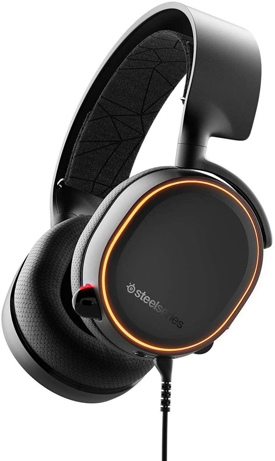 SteelSeries Arctis 5 Over-Ear Gaming-Headset (RGB-Beleuchtung, DTS Headphone:X v2.0 Surround für PC und Playstation 4) schwarz