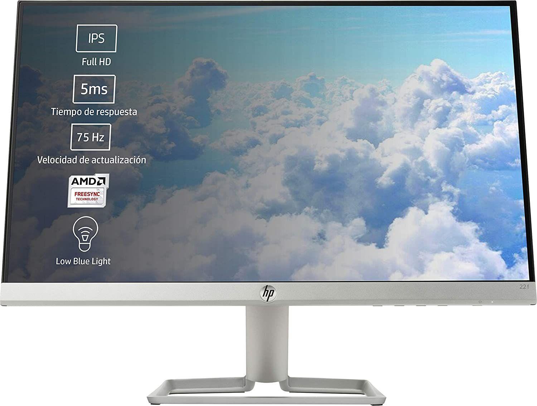 """HP 22f 21,5"""" Ultraslim Monitor (IPS, 75 Hz, FHD, AMD FreeSync, adaptive Sync, VGA, HDMI, 5ms)"""