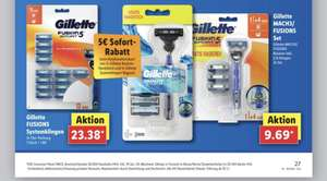 Gillette Fusion 5 Rasierklingen