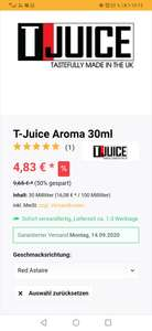 T- juice Red Astaire 30 ml Aroma