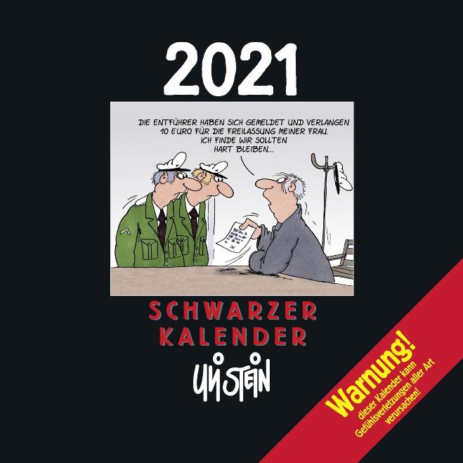 Uli Stein – Schwarzer Kalender 2021: Monatskalender für die Wand zum Bestpreis von 4,97€ inkl. Versand [Amazon Prime]