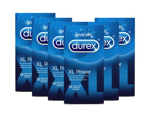 """72 Durex Kondome """"XL Power"""" (57 mm Kondombreite) für 24.95€, 48 Durex """"Feeling Sensitive"""" für 19.95€ + 5.95€ VSK [iBOOD]"""