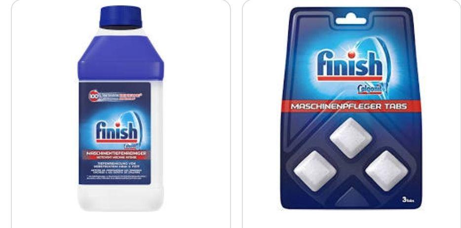 Finish Maschinentiefenreiniger gegen Kalk und Fett für Spülmaschine 1x250 ml oder 4x für 4,18€(1,04 pro)oder Tabs-Prime*Sparabo*