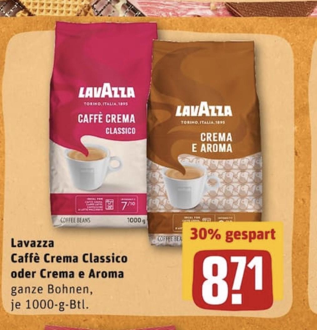 [REWE]Lavazza Cafe Crema Classic und Crema E Aroma und eventuell Online sogar mehr Sorten!