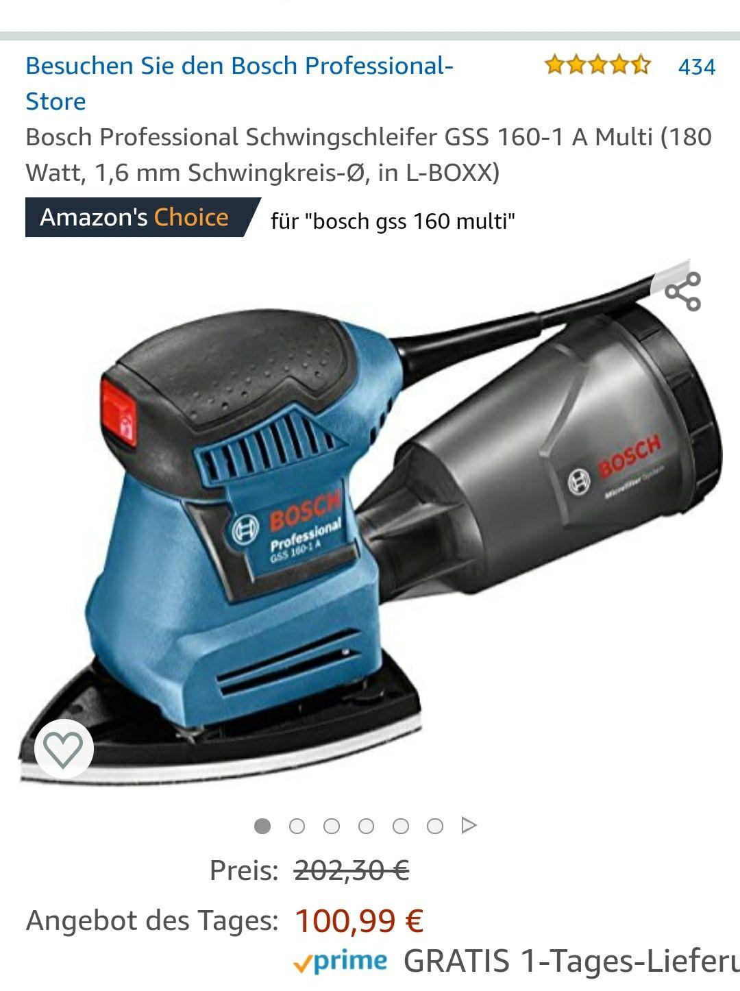 Bosch Professional Schwingschleifer GSS 160-1 A Multi