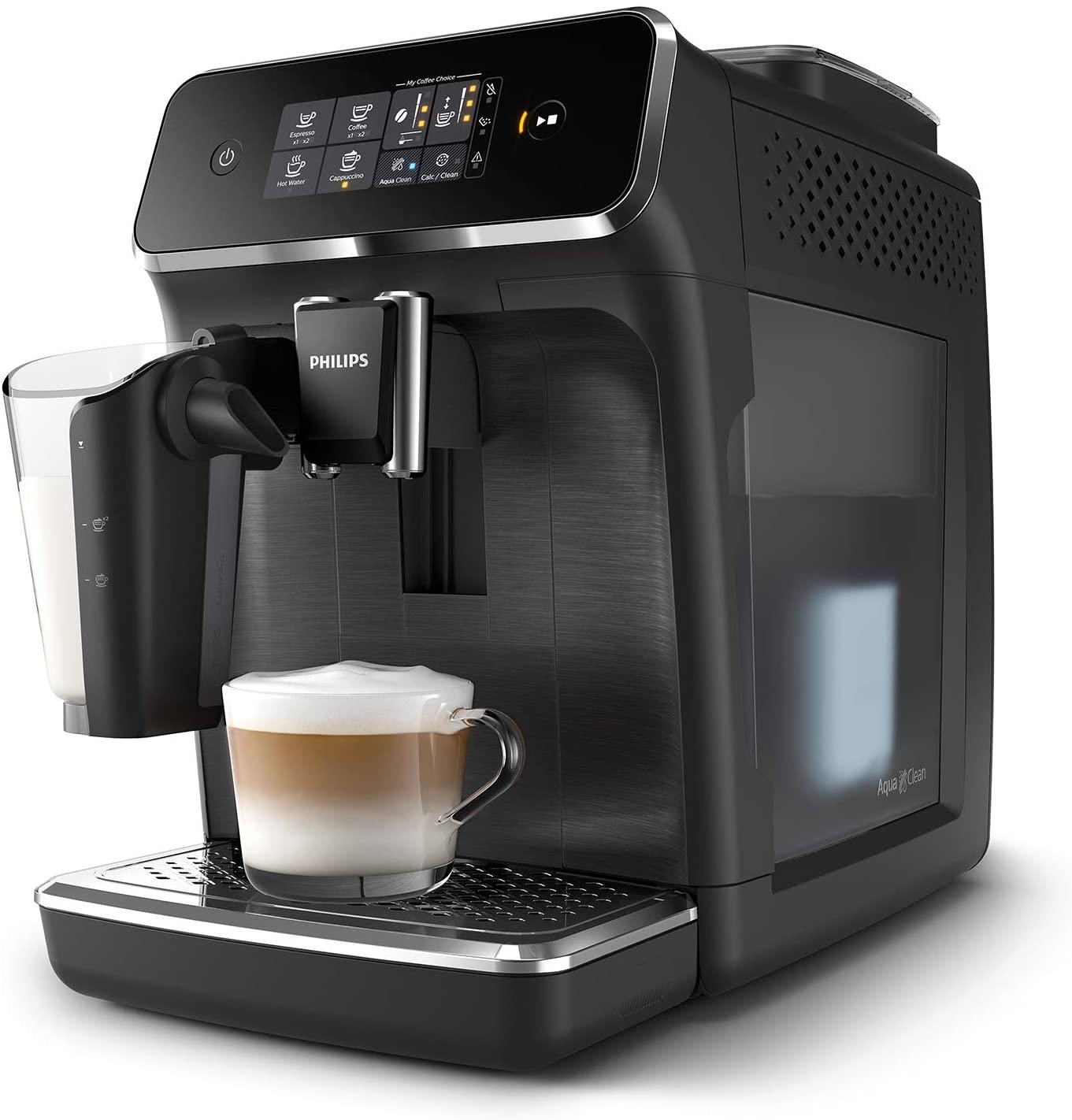 Philips 2200 Serie EP2232/40 Kaffeevollautomat, 3 Kaffeespezialitäten (LatteGo Milchsystem)