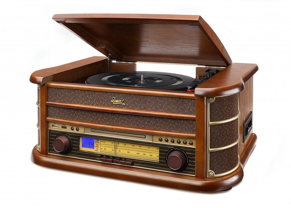 [NORMA24]-Dual Stereo-Nostalgie-Komplettanlage NR 4 - Braun