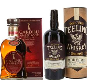 Whisky-Übersicht #47: z.B. Cardhu Amber Rock Single Malt Scotch Whisky für 25,43€, Teeling Single Malt Irish Whisky für 30,87€ inkl. Versand