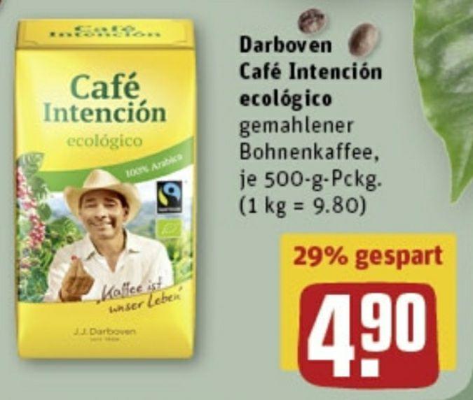 J.J. Darboven Café Intención ecológico Bio gemahlen 500g (abzgl. 15-fach Rewe Payback Coupon)