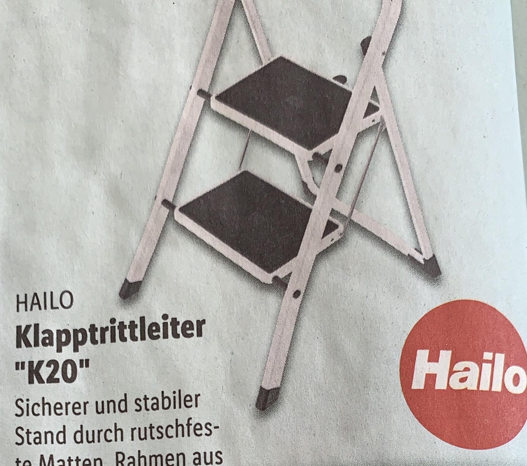 Hailo Klapptritt k20 Leiter- Lidl