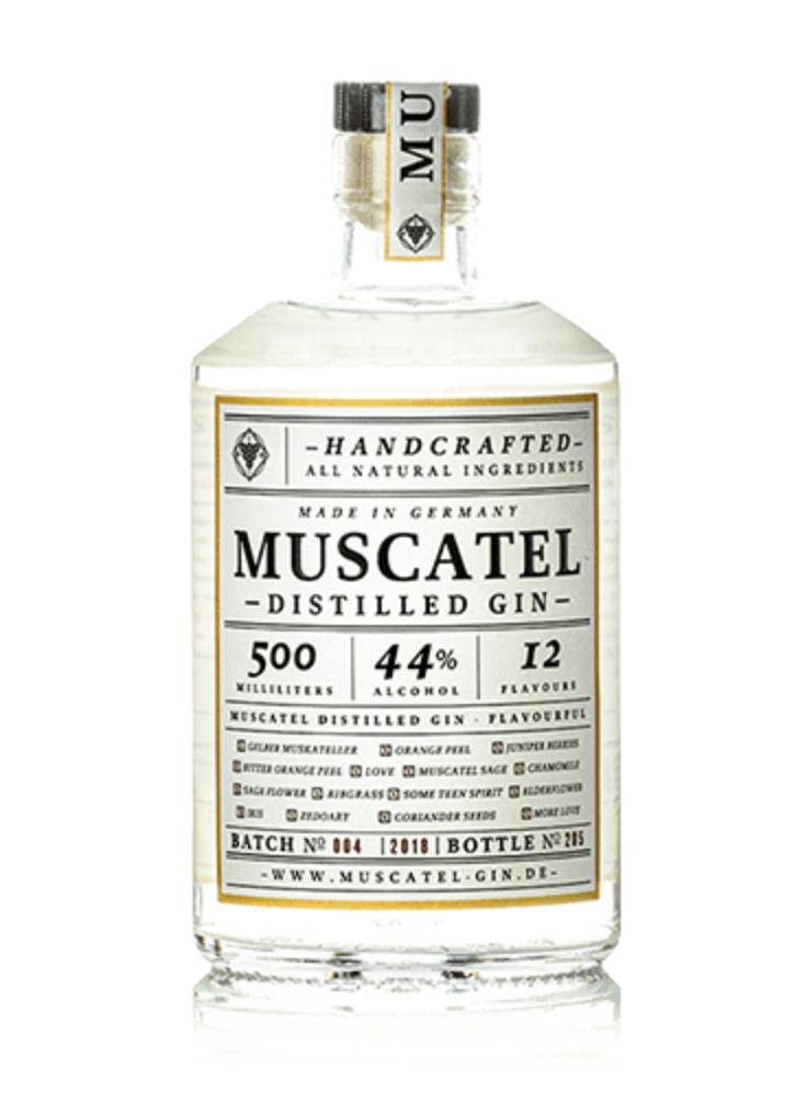 Muscatel Distilled Gin 44%, 0,5 Liter Inhalt // Gin aus Deutschland