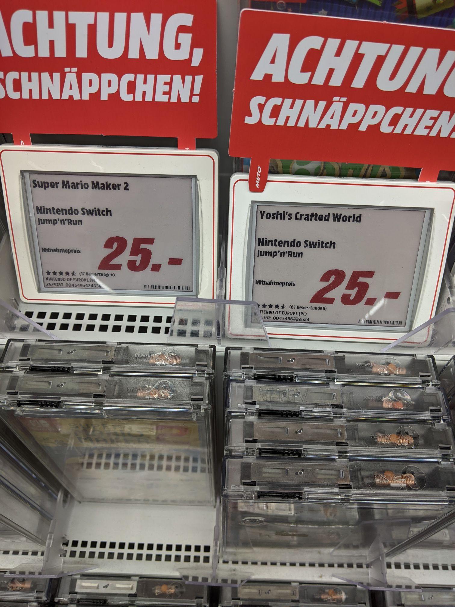 Mediamarkt Alexanderplatz: Mario Maker 2, Yoshi's Crafted World 25€ u.a.