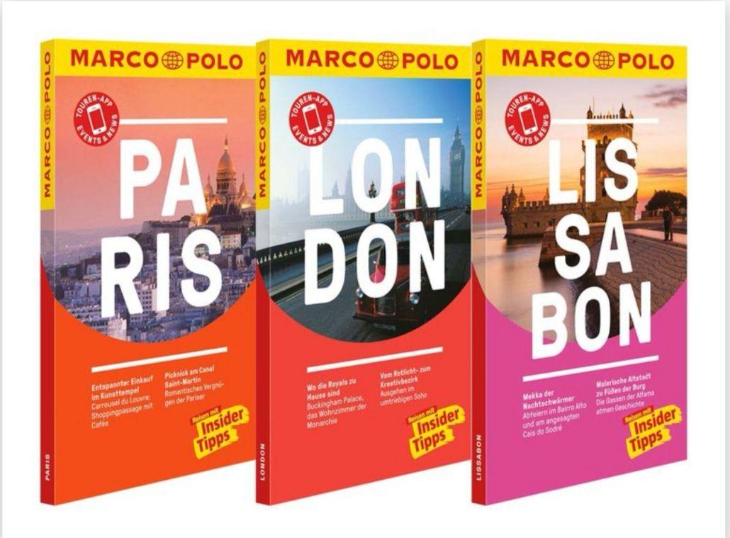 Marco Polo Reiseführer - verschiedene Titel z.B. London, Paris, Lissabon