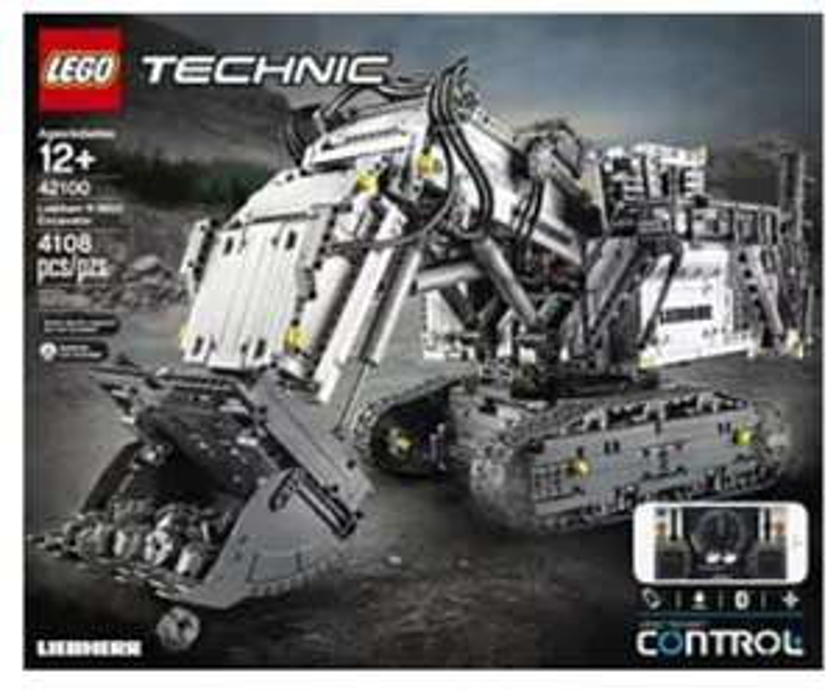 LEGO Technic 42100 Liebherr Bagger R 9800 Bausatz, Mehrfarbig