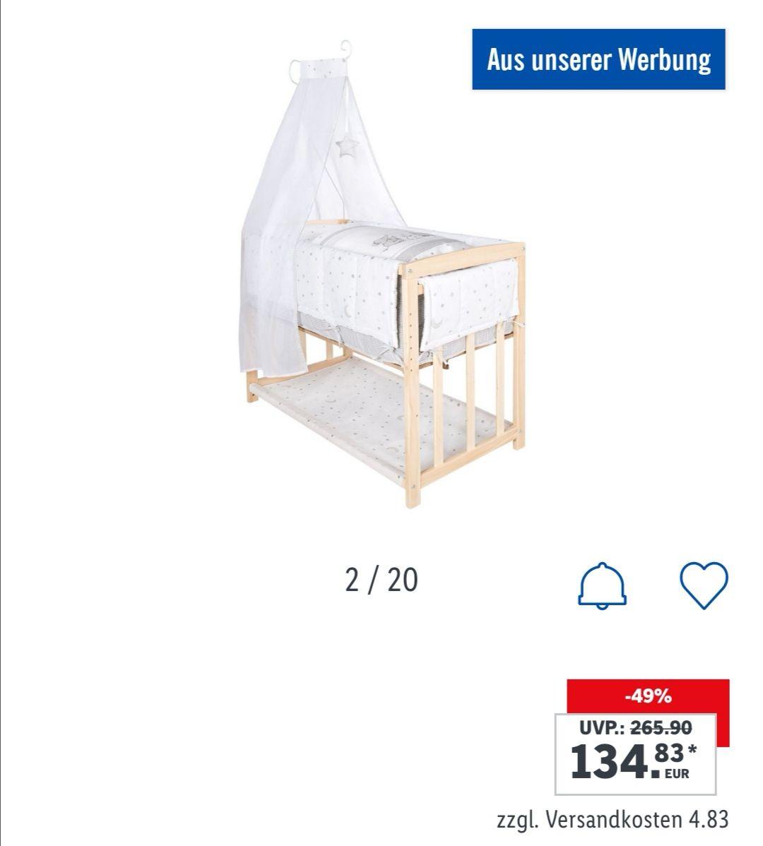 "[Lidl Online] roba Stubenbett Babysitter 4 in 1 ""Sternenzauber"", ""Adam & Eule"", ""Sparkless Taube"""