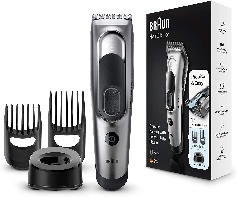 Braun / Remington / Panasonic Haarschneider / Rasierer Sammeldeal z.B HC5090 – Ultimatives Haare schneiden mit Braun in 17 Längen [Amazon]