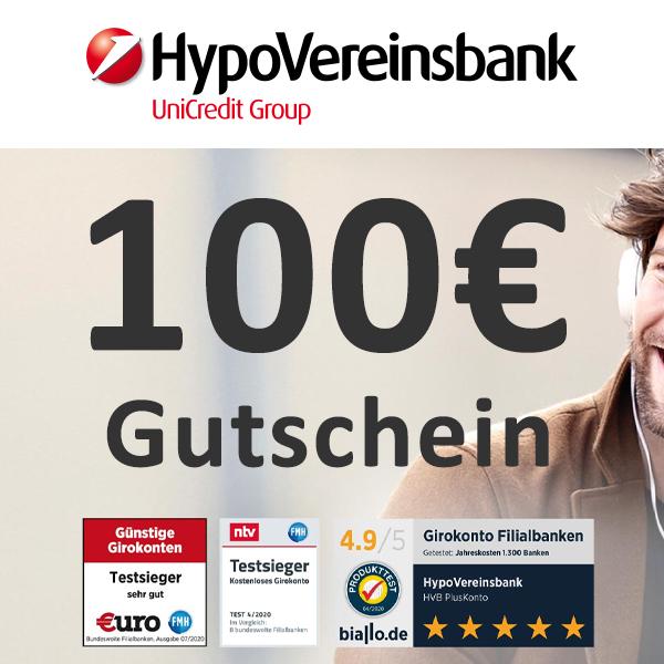 kostenloses HVB Plus-Girokonto mit 40€ Cashback + 100€ Amazon.de-Gutschein für Neukunden