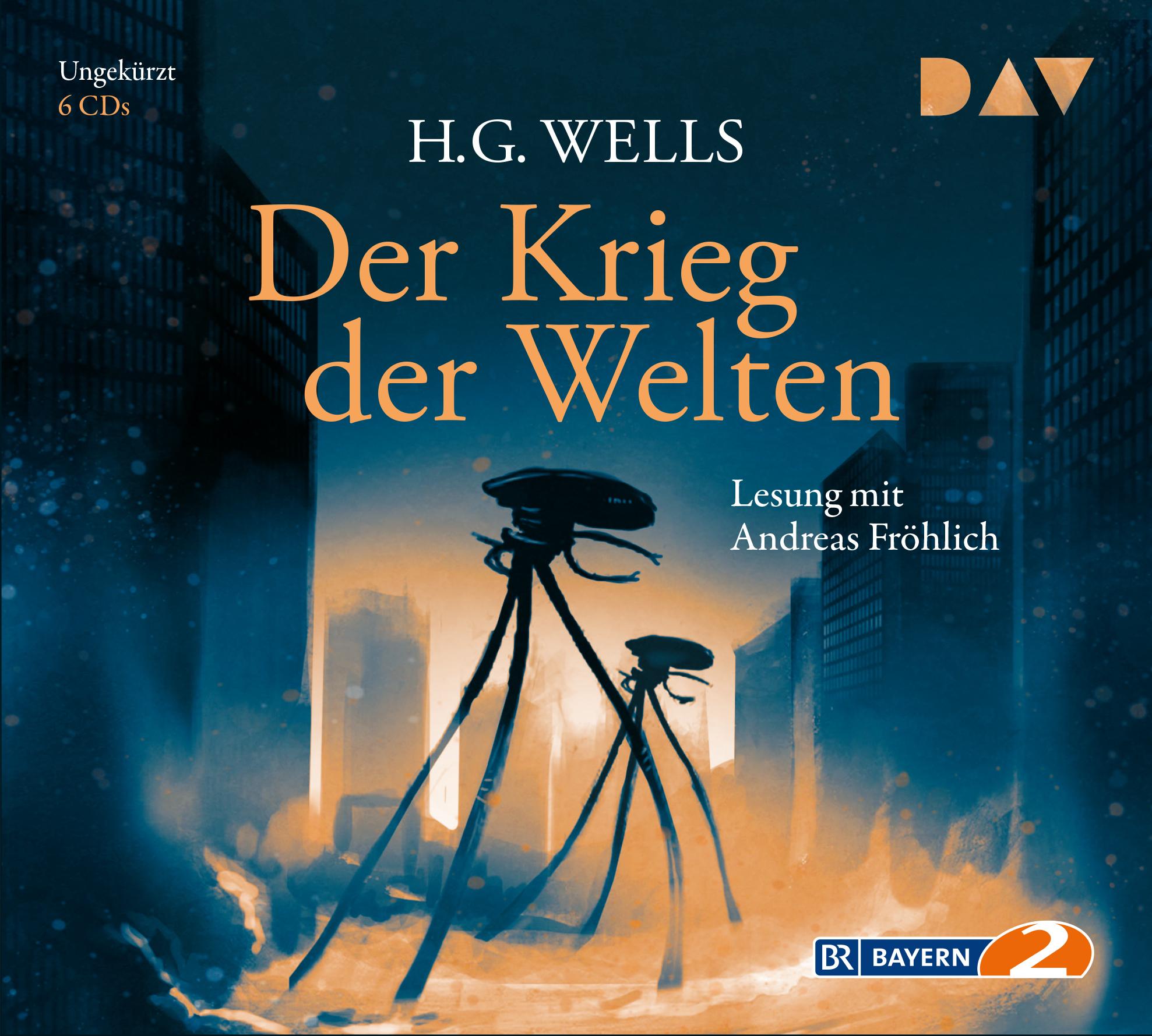 """Gratis / Kostenlos: DAV-Hörbuch """"H.G. Wells•Der Krieg Der Welten"""" als mp3s beim BR bzw. in der ARD-Audiothek (gelesen v. Andreas Fröhlich)"""