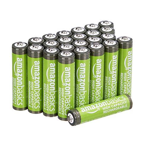 AmazonBasics AAA-Batterien, wiederaufladbar, 850 mAh, 24 Stück, vorgeladen, Prime