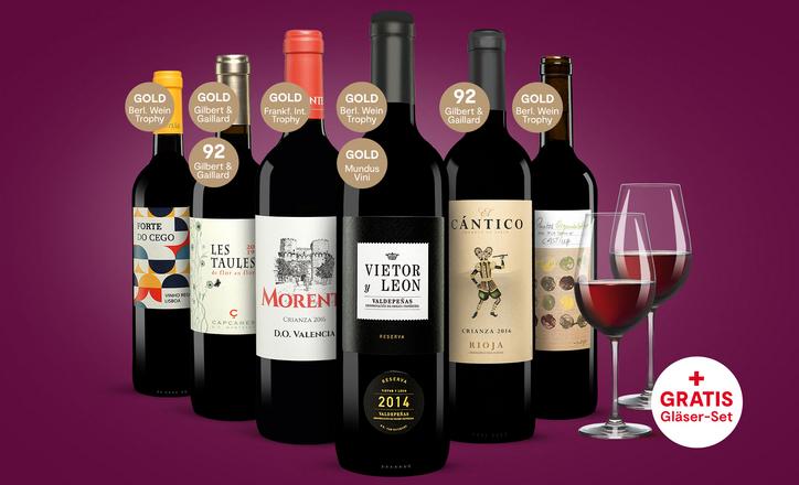 VINOS Rotweinpaket inkl. Gläserset