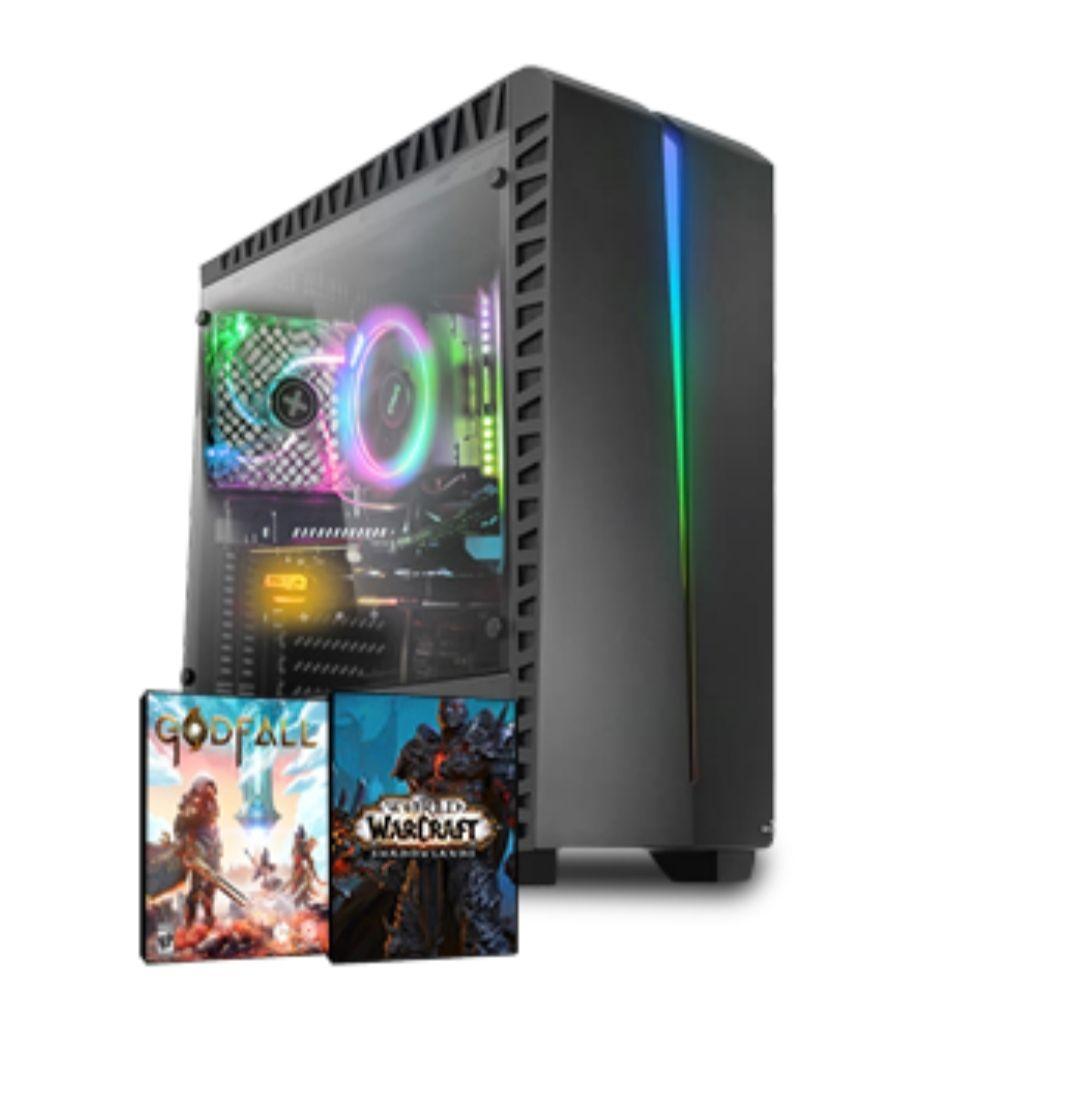 Gaming PC; AMD Ryzen 5 3600X, RX 5700XT 8GB, 16GB RAM, 1TB NVME SSD, Win 10 Pro, +2 Gratis Spiele