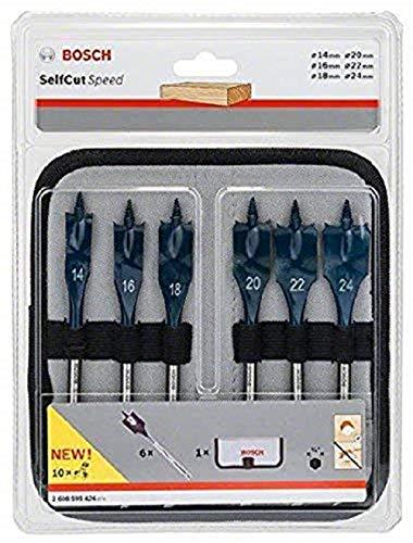 "[Amazon Prime] Bosch Professional 6tlg. Flachfräsbohrer-Set Self Cut Speed mit 1/4""-Sechskantschaft"