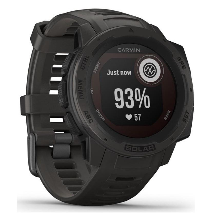 Garmin Instinct Solar Smartwatch in verschiedenen Farben ( Display: 2.3 cm, Polymergehäuse (45 mm), Solarzelle, Bluetooth )