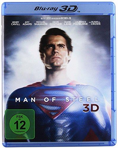 Man of Steel 3D (Blu-ray 3D) für 7,79€ (Amazon Prime & Saturn Abholung)