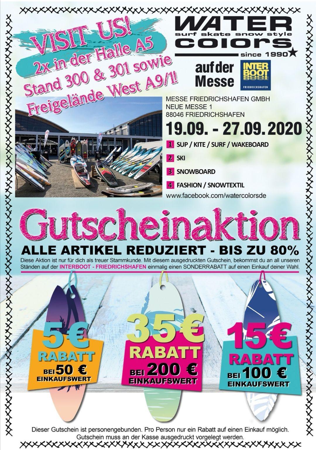 [funsportone] Gutscheinaktion Messe Interboot in Friedrichshafen 5€ bei 50€ Ekw - 15€ bei 100€ Ekw - 35€ bei 200€ Ekw