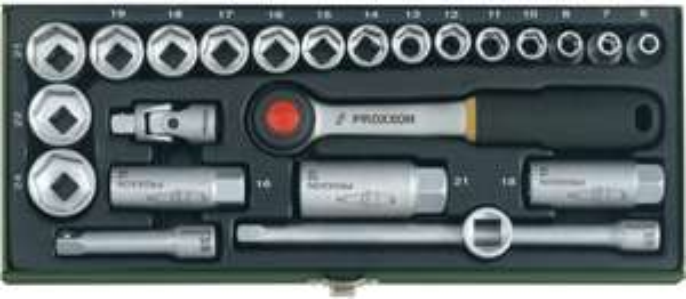 """Proxxon Industrial Steckschlüsselsatz metrisch 3/8"""" 24teilig 23110 für 26,99€ [Voelkner]"""