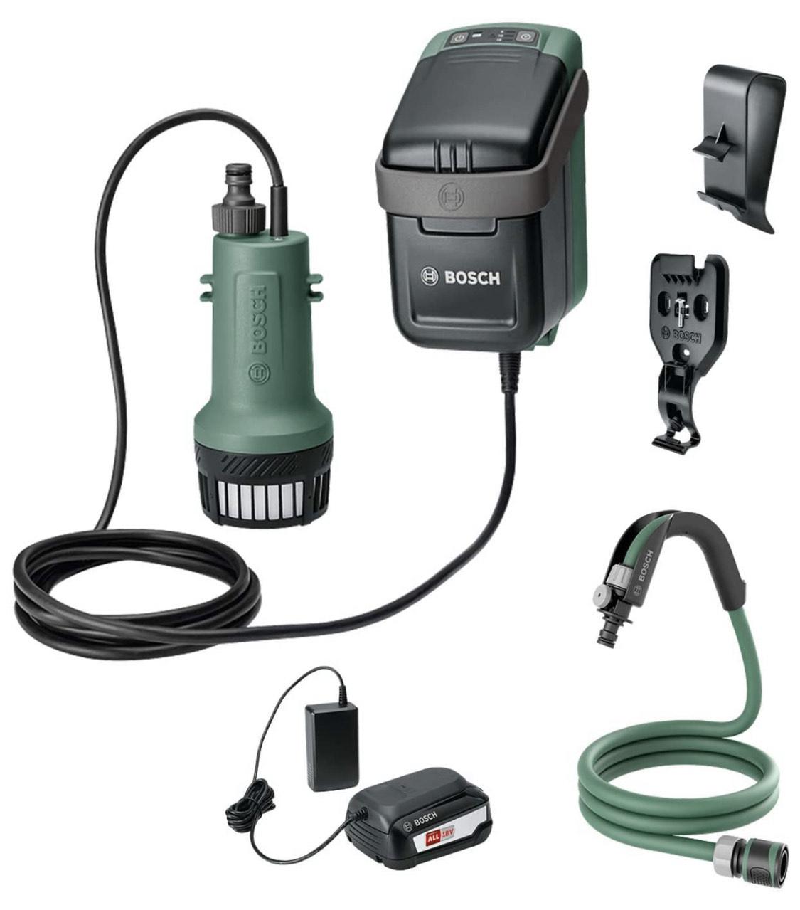 Bosch GardenPump 18 akkubetriebene Wasserpumpe mit 18V Akku + Ladegerät