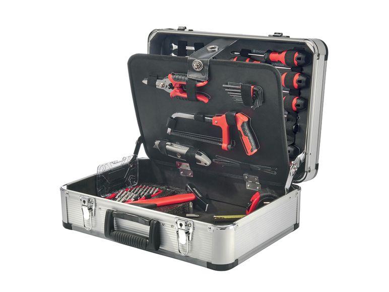 PARKSIDE® Werkzeugkoffer, 101-teiliges Werkzeug-Set, in stabilem Koffer