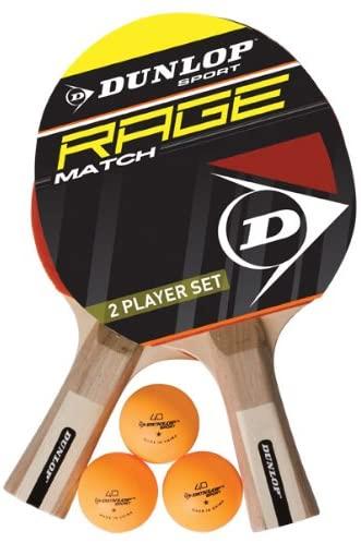 Dunlop AC Rage Match Tischtennisschläger Set für 9,29€ (Amazon Prime)
