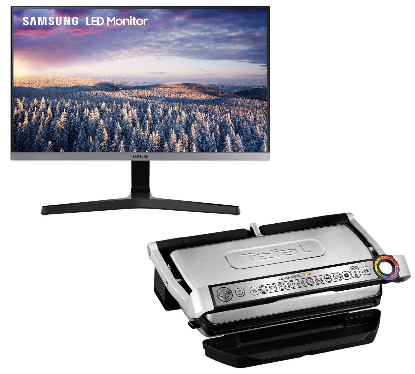 "MediaMarkt ab ca. 20 Uhr: SAMSUNG LS24R354FHUXZG 60,45cm 23,8"" Full-HD IPS Monitor für 106€ / Tefal OptiGrill XL Variante GC722D für 136,21€"