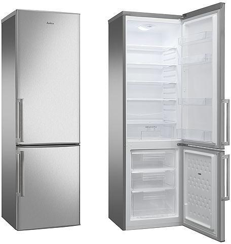 Amica KGC15490E A++ Kühlschrank (55 cm breit, 181,6 cm hoch, 248 L, Automatische Abtauung, LED-Beleuchtung, VitControlPlus, edelstahl)