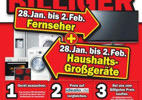 Mediamarkt Idealo Bestpreis bei Fernseher und Haushaltsgroßgeräte (evt. nur lokal WÜ)