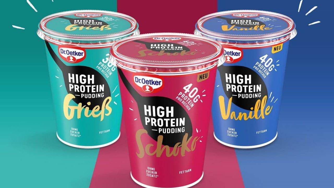 [aldi süd] Dr Oetker High Protein Grieß- Pudding je 400g Becher